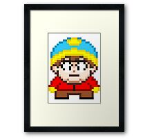 South Park Eric Cartman Mini Pixel Framed Print