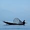 Intha Fisherman with Conical Fishing Net, Inle Lake (Burma) by Petr Svarc
