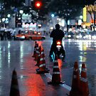 Cones in the rain: Shibuya, Tokyo, Japan. by Alfie Goodrich