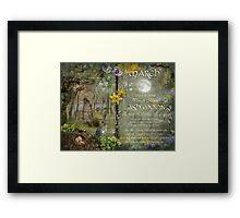March : Ash Moon Framed Print