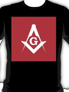 Masonic Compass | Lust Brick T-Shirt