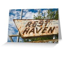 Route 66. Afton. Old Rest Haven Motel sign. (Alan Copson © 2007) Greeting Card