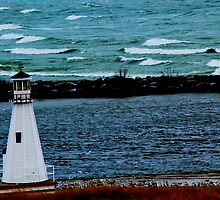 Lighthouse on Lake Michigan by Pahl