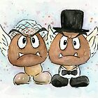 Goomba Bride and Groom by OlechkaDesign