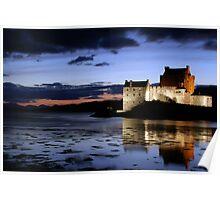 Eilean Donan Castle At Night Poster
