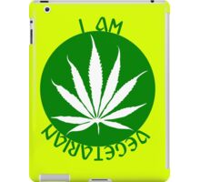 I AM VEGETARIAN  iPad Case/Skin