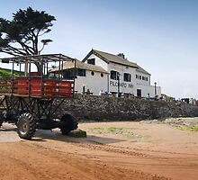 Burgh Island Sea Passenger Transporter: Bigbury Devon UK by DonDavisUK