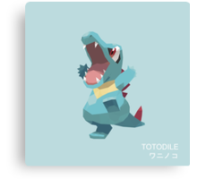 Totodile Low Poly Canvas Print