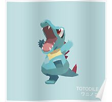 Totodile Low Poly Poster