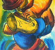 musician 1 : sax player by Gary Marshall