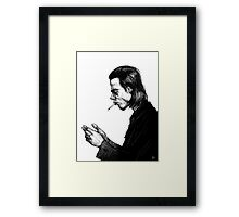 Nick Cave Sketch Framed Print