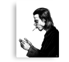 Nick Cave Sketch Canvas Print
