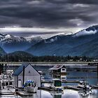Stewart B.C. Boat Harbor by Dyle Warren