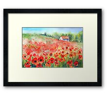 Scarlet Carpet Framed Print
