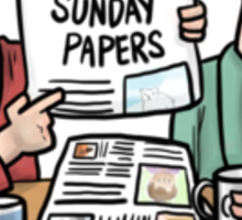 sunday papers Sticker