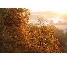 Gold Fog of Autumn Sunrise Photographic Print