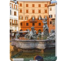 Neptune Fountain on Piazza Navona - Impressions Of Rome iPad Case/Skin