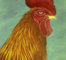 Rooster portrait by maggie326
