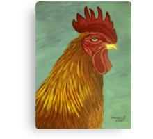 Rooster portrait Canvas Print