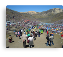 Qollyoritti fiesta in Ausangate mountain, Peru Canvas Print