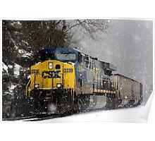 Snow Storm CSX Poster