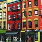The Village Leather - N.Y.C. oil painting by LindaAppleArt