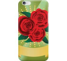 Card with red roses iPhone Case/Skin