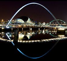 NewcastleGateshead Quayside By Night by KevM