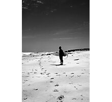 Loney surfer Photographic Print