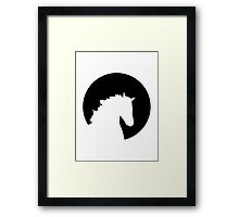 Horse moon Framed Print
