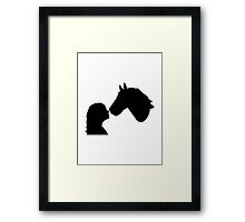 Horse girl woman Framed Print