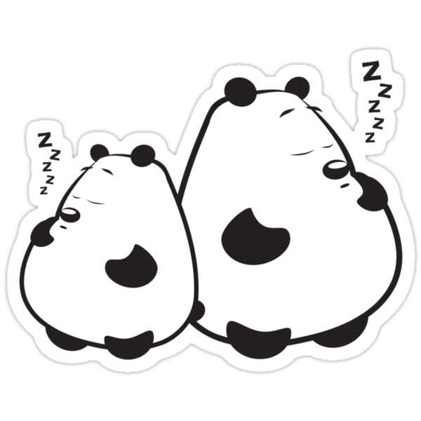 Sleeping Pandas by FredzArt