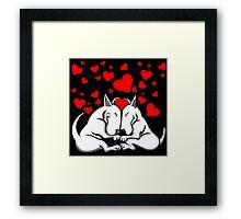 Bull Terriers In Love Framed Print
