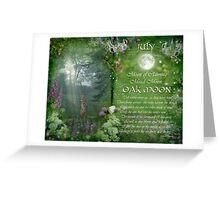 July : Oak Moon Greeting Card