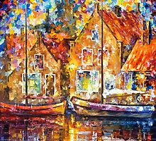 Old Ships — Buy Now Link - www.etsy.com/listing/221370820 by Leonid  Afremov