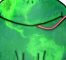 Think Green Frog Environment T-Shirt Sticker