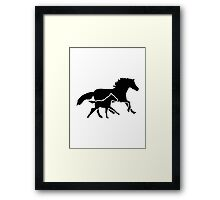 Running horse family Framed Print