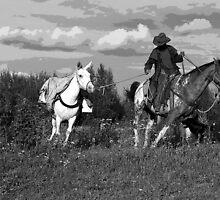 """""""Caribou Cowboy"""" by Val  Brackenridge"""