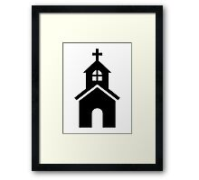 Church symbol Framed Print