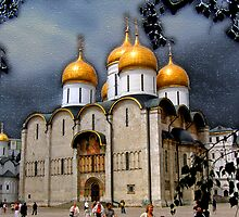 Dormition Cathedral, Kremlin, Moscow by vadim19