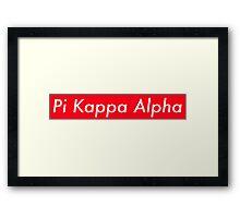 Pi Kappa Alpha Supreme Framed Print