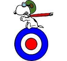 Aviator Snoopy Photographic Print