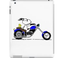 Snoopy on the road iPad Case/Skin