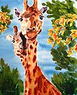 Giraffes by Karen Ilari