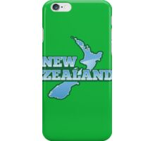 NEW ZEALAND map with NZ iPhone Case/Skin