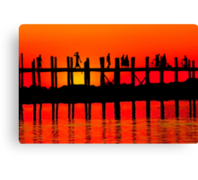MANDALAY SUNSET Canvas Print