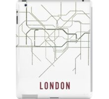 London Tube Map with Rustic Old Feel iPad Case/Skin