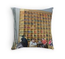 wall of books Throw Pillow