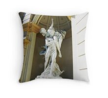 Statues outside Throw Pillow