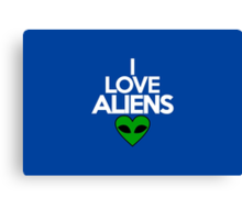 I love aliens Canvas Print